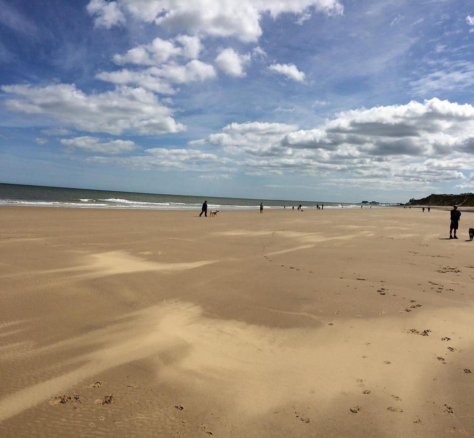 Looking towards East Runton beach!